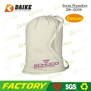 High Quality Recycled Canvas Mini Drawstring Bags DK-G339