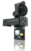 Competitive Price Car Video Recorder, Double Lenses, With 8 IR Night Vision Lamps, Multiple Languages, SC DVR-L12