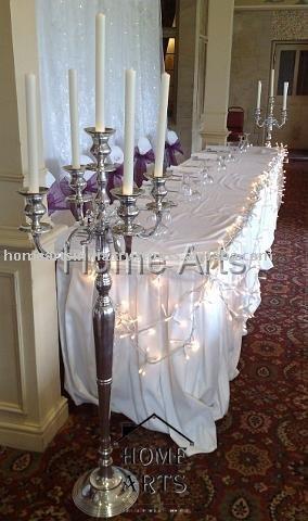 Silver wedding Centre PieceCandelabra
