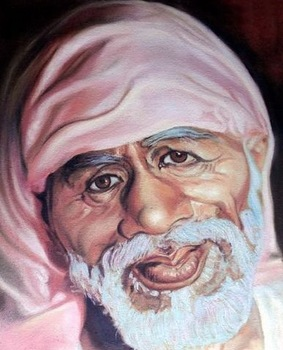 Shirdi Sai Baba Oil Paintings On Canvas