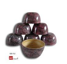 spun bamboo salad bowl, lacquer bowl, home decor