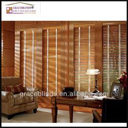 Premier Wood blinds 50mm wood slats ladder tape cord tilt wood blinds