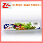 plastic wrap for food wrapping PE cling film