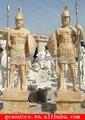 marmo pietra statua guerriero con casco per la vendita