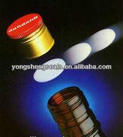 closed-cell polyethlene foam seal insert/liner for aluminum screw top cap for wine