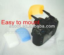 3 Color Pop-up flash+diffuser+softbox for Digital Camera, DSLR