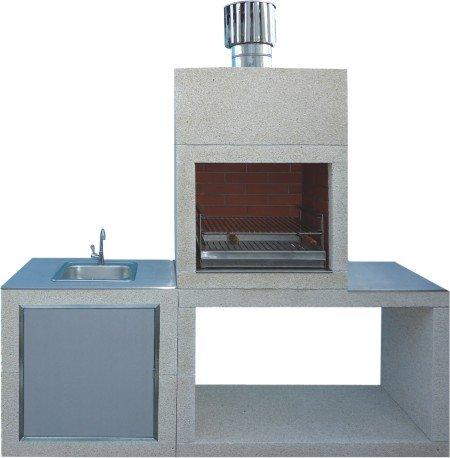 Moderner Form-Stein-Grill