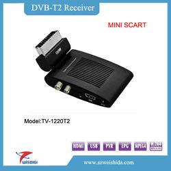 2013 new mstar7816 HD 1080P DVB-T2 Scart Receiver with mpeg4\h.264,usb pvr dvb-t2;mini hd dvb t2 tv box