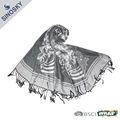 Moda pashmina prata lenço de seda