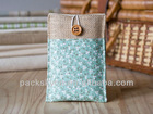 Small cute fabric drawstring cotton gift bag