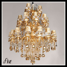 30 Heads Jade and High Quality K9 Crystal Luxury Large pattern Pendant Lamp