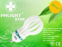 Promotion! 2013 New Product 17mm 125W 5U Lotus Enerji tasarruflu lambalar.ampuller.CFL lambalar
