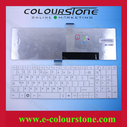 Brand New US White Notebook Keyboard For Toshiba C850 Keyboard Replacement C850D C855 C855D Series V130562BK1 0KN0-ZW4UI01