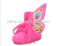 2013 new fall fashion butterfly wings canvas shoes mid-top shoes