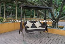 High quality!! Double seat rattan patio swings/Outdoor hommock/Swining chair