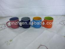 12oz ceramic/porcelain mug two tone round shape