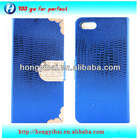 New mobile phone accessories diamond flip leather case for iphone5 5s