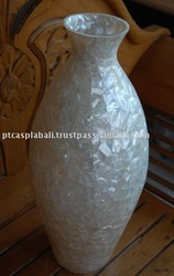 mother of pearl white vases