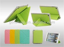 Factory supply , custom rotating leather case for ipad mini