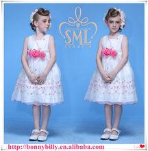 Fashion kids party wear girl dress, children clothing for wedding
