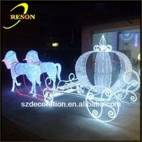 RS-carriage05 lighting christmas horse carriage decoration