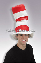 Party Hat Dr. Seuss Cat Red & White Stripped Velvet Adult Hat