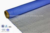 12oz blue/grey silicone impregnation fiberglass heat reflective curtains