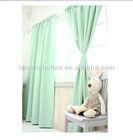 New Item Energy Saving rod pocket Green colour blackout fabric window Curtain