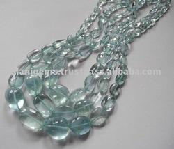Aquamarine tumble nuggets Beads