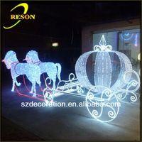 RS-carriage05 lighting christmas iron decorative sleigh