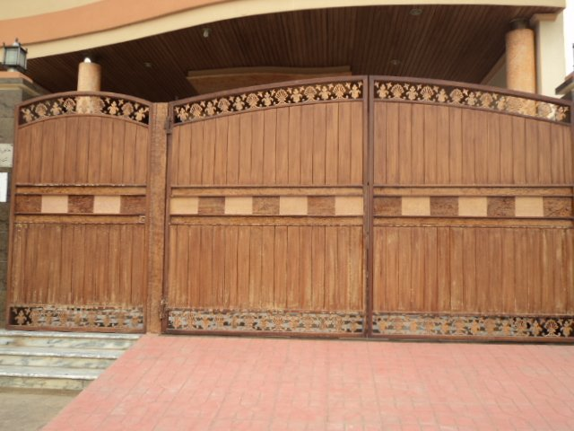 Iron gates buy main iron gate product on - Wooden main gate design for home ...