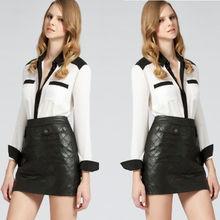 venta al por mayor de moda de diseño de alta calidad de manga larga blusa de seda blanca para los diseños de lujo oficina blusas formales 2013