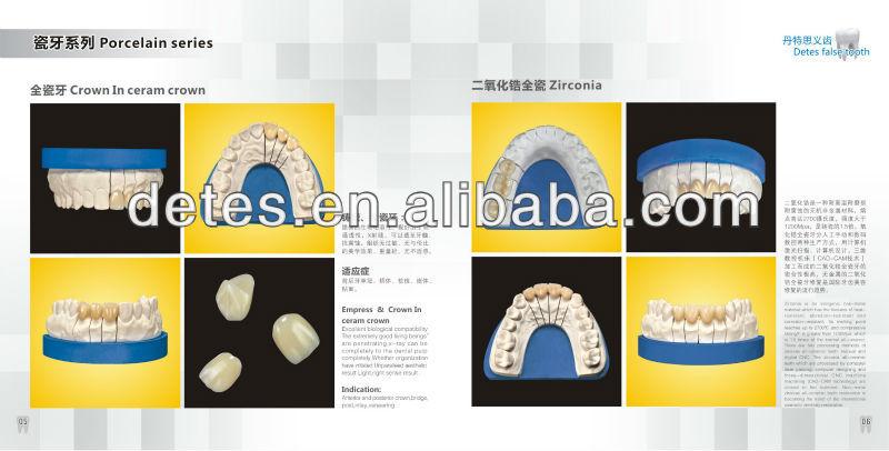 Porcellana dentale denti finti/naturale protesi dentale