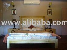 Upholstered Oak Bed