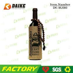 Manufacturers Printed Jute Wine Tote Bags DK-MJ080