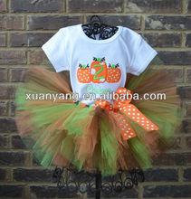 Pumpkin Trio Halloween Thanksgiving Fall Birthday Tutu Outfit