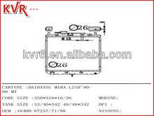 Aluminium Auto radiator for DAIHATSU MIRA L210' Year 90 98 OEM 1640087257 71 88