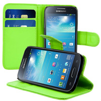 Stand wallet leather case for samsung galaxy s4 mini i9190