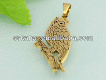 Lucky Stainless Steel Gold Bird Pendant