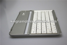 White Aluminium Stand With Wireless Bluetooth Keyboard Case Cover For iPad Mini