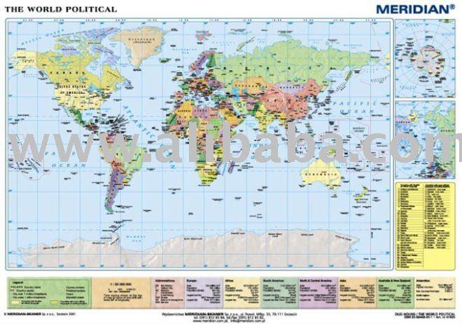 world map political map. World political map(Poland)