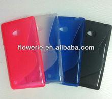 FL2204 2013 Guangzhou hot selling s line tpu soft back cover case for nokia lumia 720