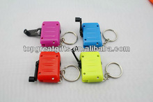 cheap hand crank dynamo flashlight with keychain for promotion gift