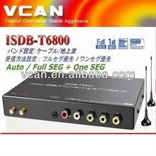 Mini digital full portable media player with digital tv dual tuner dvb-t set top box ISDB-T6800 for Japan