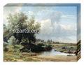 Novo! Pintura a óleo estilo de árvores da paisagem imprimi-lo na lona