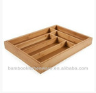 Natural Bamboo Roll Out Kitchen Drawer