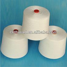 raw white 100% polyester ring spun yarn from China