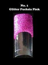 Acrylic powder, glitter, nail art