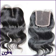 Noble virgin no shedding & tangle lace closures virgin mongolian wavy hair for wholesale!!
