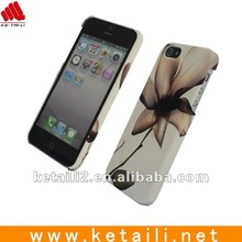 hard skin case for iphone5/5s with two edges printing cell phone cover